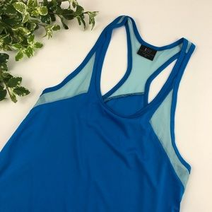 Splits 59 Blue and Pink Racerback Tank Top